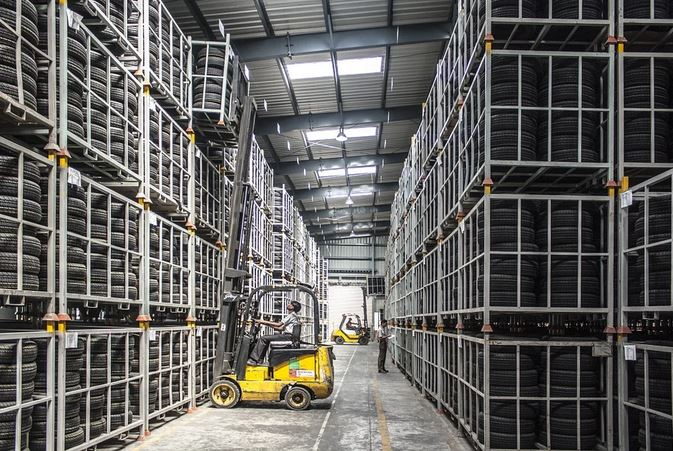 Forklift Used in a Warehouse
