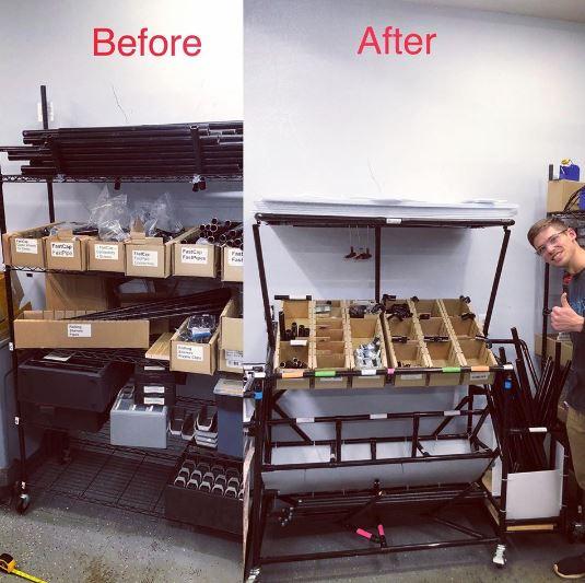 Joe's shelf inventory
