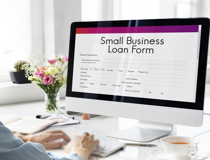 Business owner applying for small business loan