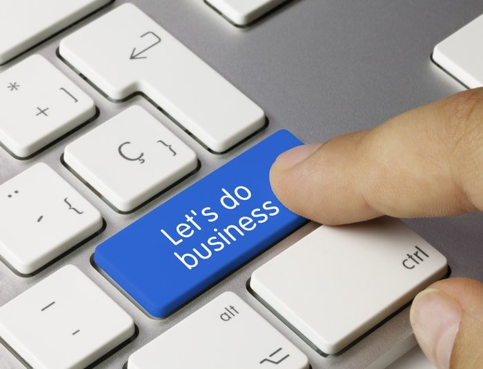 """Keyboard with """"let's do business"""" print"""