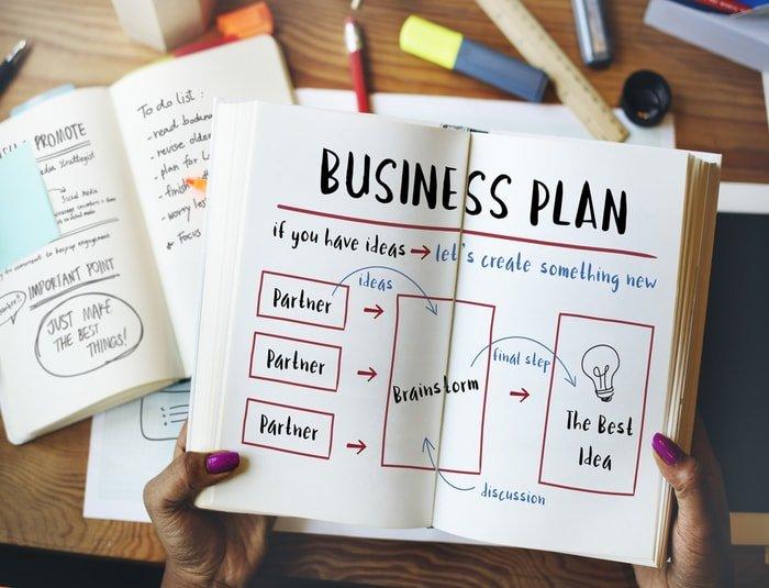 Man creating a business plan