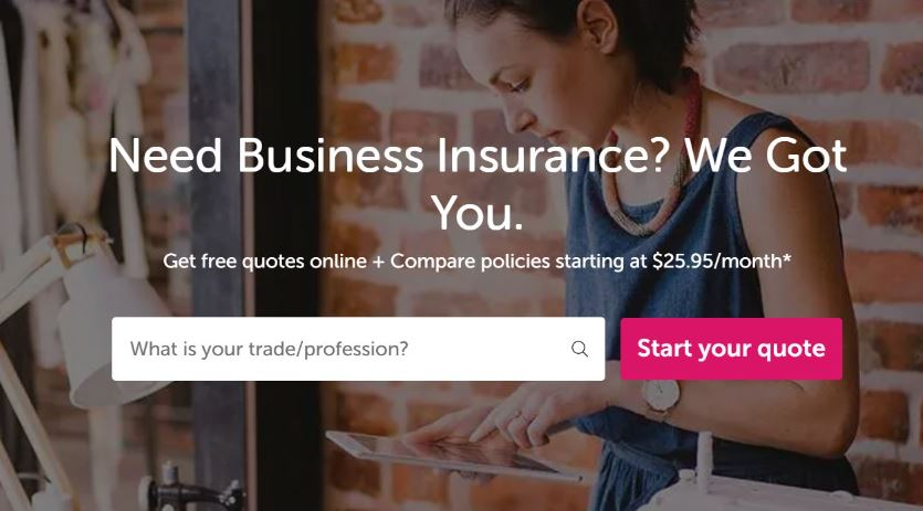 Getting cleaning insurance online