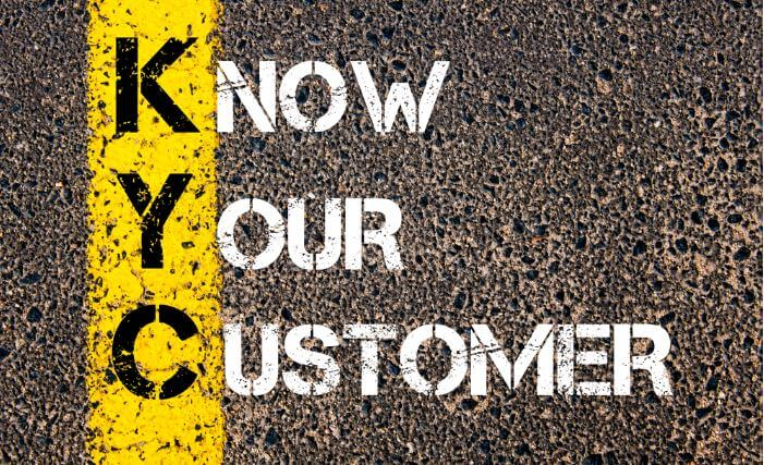 Know your customer text on pavement
