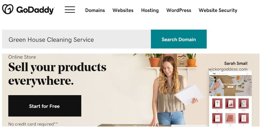 Registering domain name with GoDaddy