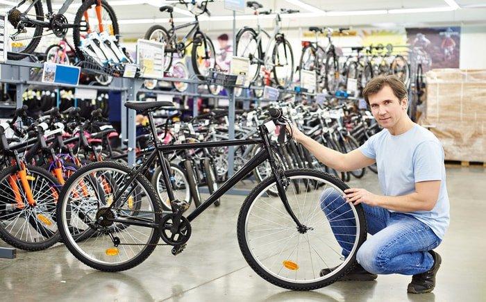 Man in a bike shop