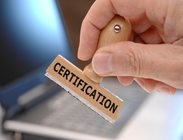 Business license and certificate approval