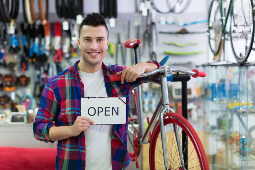 Man in the bike shop