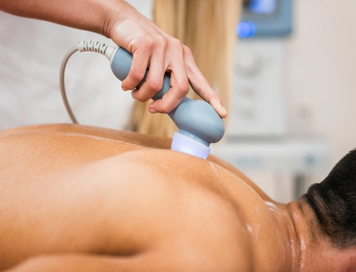 Man in a massage clinic