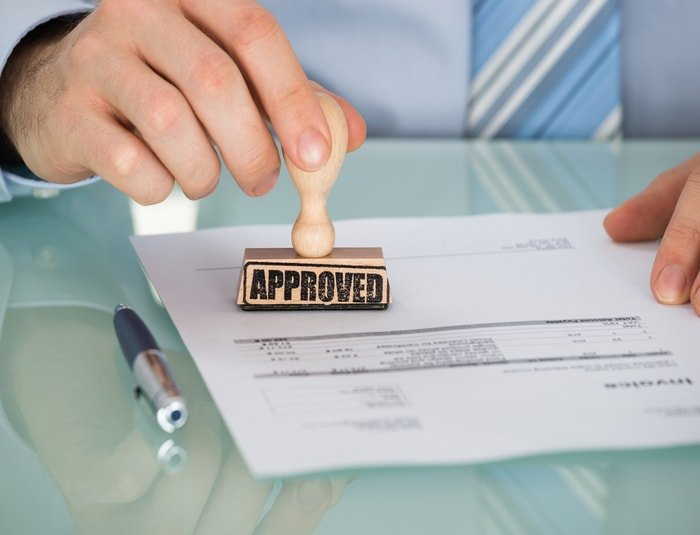Approval of business permit and license