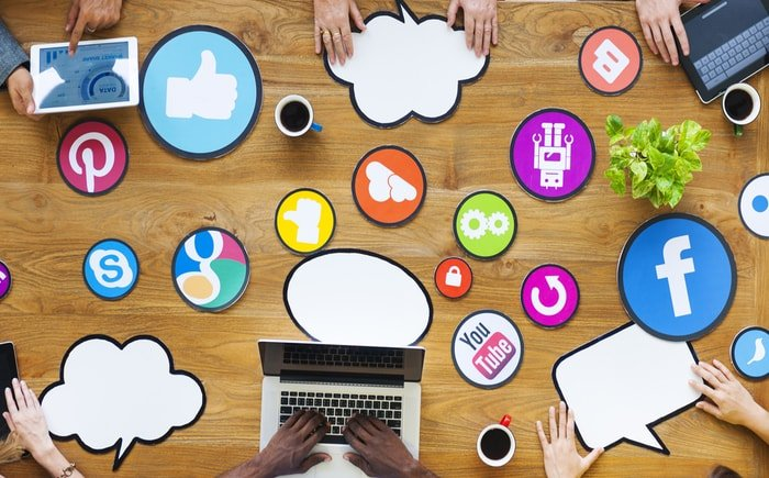 Different social media sites to network business