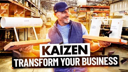 Paul Akers holding pipes and showing Kaizen
